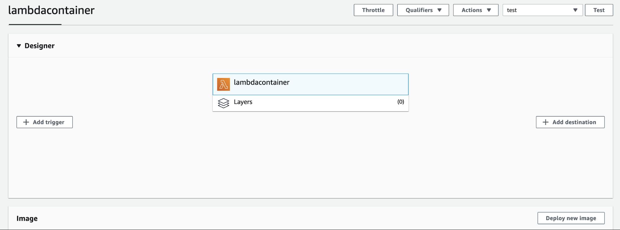Deploy Container Lambda